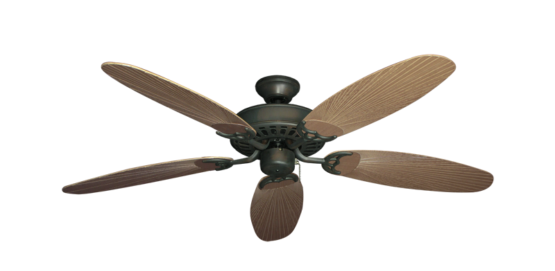 "Bimini Breeze V Oil Rubbed Bronze with 52"" Outdoor Leaf Tan Blades"