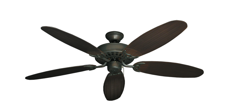 "Picture of Bimini Breeze V Oil Rubbed Bronze with 52"" Outdoor Wicker Oil Rubbed Bronze Blades"