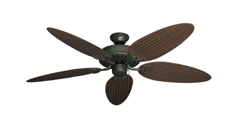 "Picture of Bimini Breeze V Oil Rubbed Bronze with 52"" Outdoor Bamboo Oil Rubbed Bronze Blades"