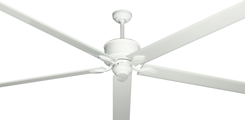 """Picture of Hercules Pure White with 96"""" Aluminum Pure White Blades"""