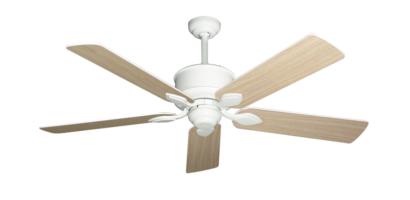 """Picture of Hercules Pure White with 52"""" Bleached Oak Gloss Blades"""