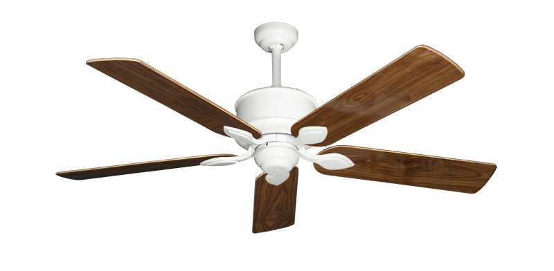 """Picture of Hercules Pure White with 52"""" Walnut Gloss Blades"""