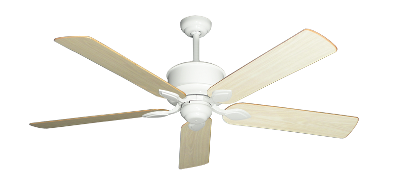 """Picture of Hercules Pure White with 56"""" Unfinished Oak Blades"""
