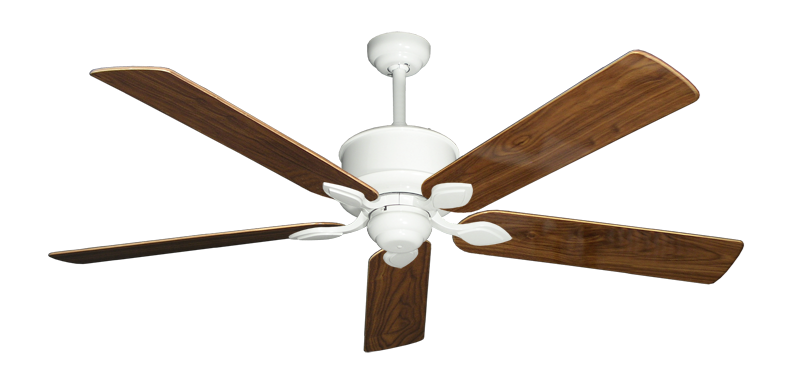 "Picture of Hercules Pure White with 60"" Walnut Gloss Blades"