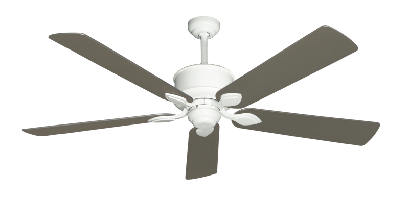 """Picture of Hercules Pure White with 60"""" Satin Steel (painted) Blades"""