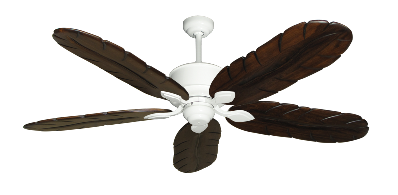 """Picture of Hercules Pure White with 58"""" Series 500 Arbor Dark Walnut Blades"""