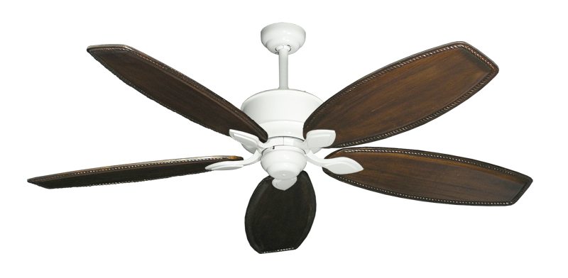 """Picture of Hercules Pure White with 60"""" Series 525 Arbor Dark Walnut Blades"""