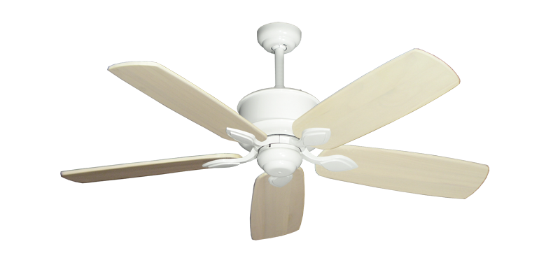 """Picture of Hercules Pure White with 52"""" Series 710 Arbor Whitewash Blades"""