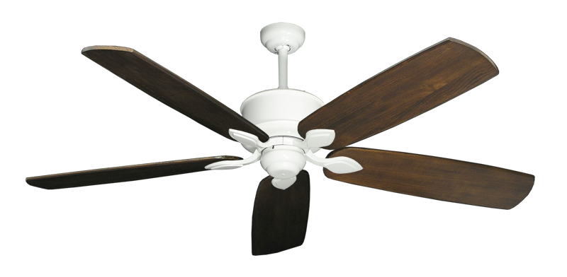 "Picture of Hercules Pure White with 60"" Series 725 Arbor Dark Walnut Blades"