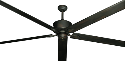 "Picture of Hercules Oil Rubbed Bronze with 96"" Aluminum Oil Rubbed Bronze Blades"