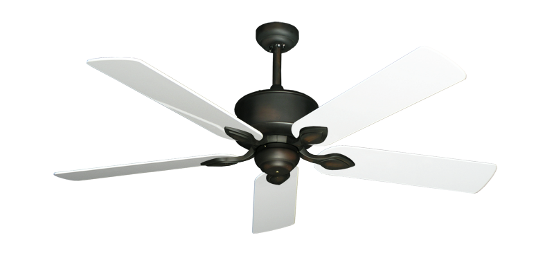 """Picture of Hercules Oil Rubbed Bronze with 52"""" Pure White Gloss Blades"""