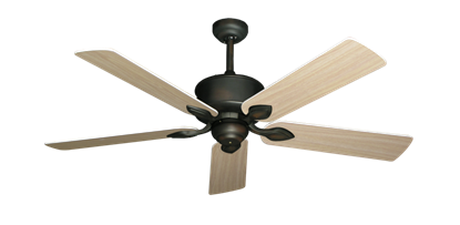 "Picture of Hercules Oil Rubbed Bronze with 52"" Bleached Oak Gloss Blades"