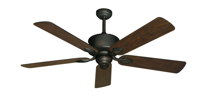 "Picture of Hercules Oil Rubbed Bronze with 52"" Distressed Walnut Blades"