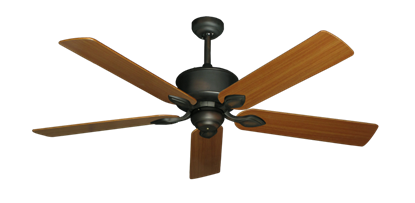 "Picture of Hercules Oil Rubbed Bronze with 56"" Teak Blades"