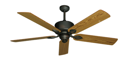 "Picture of Hercules Oil Rubbed Bronze with 56"" Oak Blades"