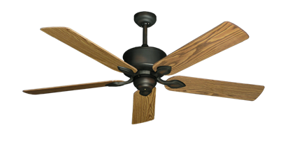"Picture of Hercules Oil Rubbed Bronze with 56"" Oak Gloss Blades"
