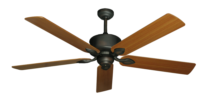 """Picture of Hercules Oil Rubbed Bronze with 60"""" Teak Blades"""