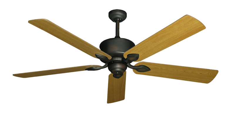"""Picture of Hercules Oil Rubbed Bronze with 60"""" Honey Oak Blades"""