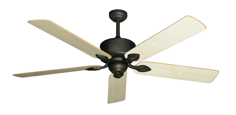 "Picture of Hercules Oil Rubbed Bronze with 60"" Unfinished Oak Blades"