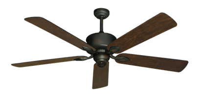 """Picture of Hercules Oil Rubbed Bronze with 60"""" Distressed Walnut Blades"""