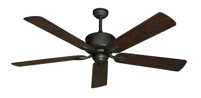 "Picture of Hercules Oil Rubbed Bronze with 60"" Distressed Hickory Blades"