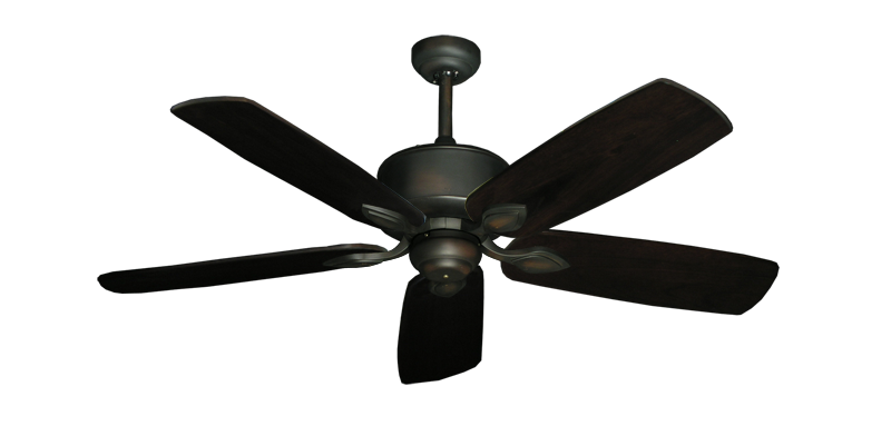 "Picture of Hercules Oil Rubbed Bronze with 52"" Series 710 Arbor Dark Walnut Blades"