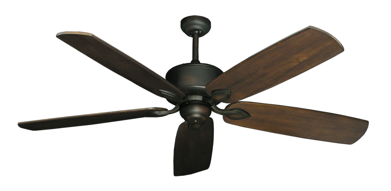"Picture of Hercules Oil Rubbed Bronze with 60"" Series 725 Arbor Dark Walnut Blades"