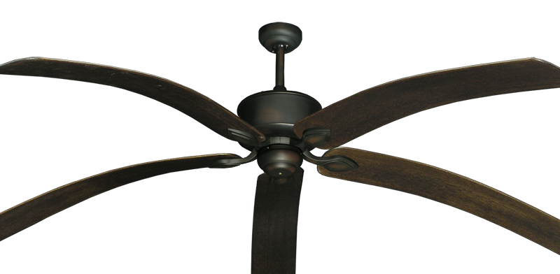 """Picture of Hercules Oil Rubbed Bronze with 80"""" Bahama Bent Walnut Blades"""