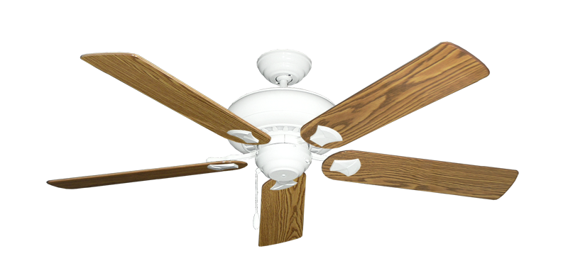 """Picture of Tiara Pure White with 56"""" Oak Gloss Blades"""