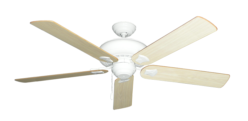 """Picture of Tiara Pure White with 60"""" Bleached Oak Gloss Blades"""