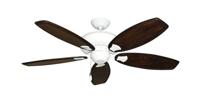 """Picture of Tiara Pure White with 52"""" Series 550 Arbor Whitewash Blades"""