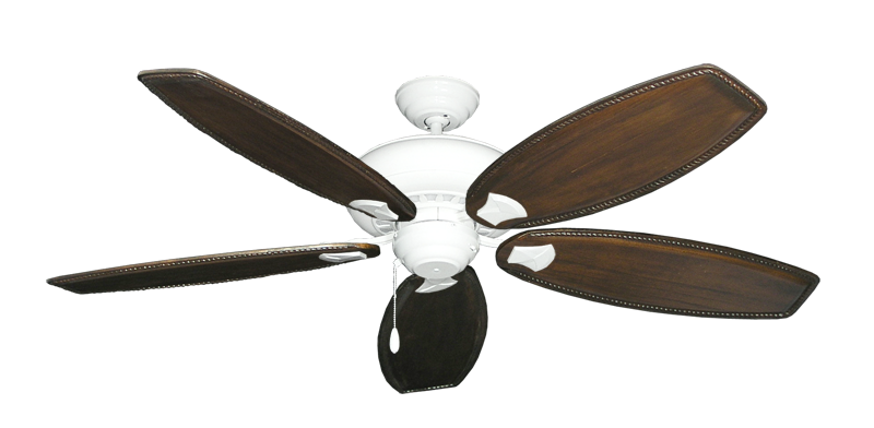 "Picture of Tiara Pure White with 60"" Series 525 Arbor Dark Walnut Blades"