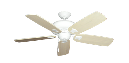 "Picture of Tiara Pure White with 52"" Series 710 Arbor Whitewash Blades"