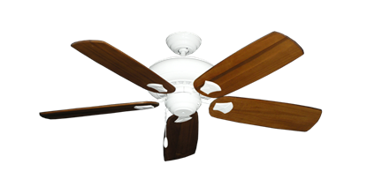 """Picture of Tiara Pure White with 52"""" Series 710 Arbor Oak Blades"""