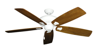 """Picture of Tiara Pure White with 60"""" Series 725 Arbor Oak Blades"""