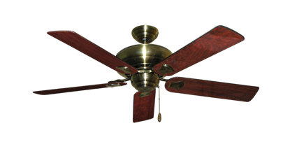 "Picture of Tiara Antique Brass with 52"" Cherrywood Gloss Blades"