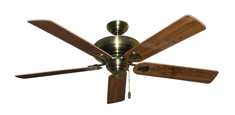 "Picture of Tiara Antique Brass with 60"" Walnut Gloss Blades"