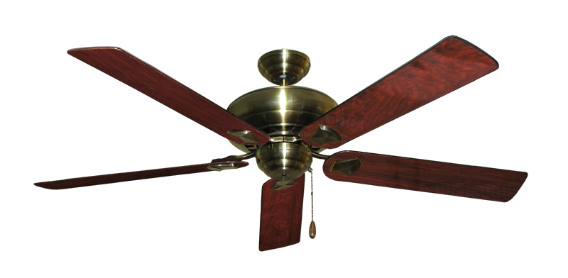"Picture of Tiara Antique Brass with 60"" Cherrywood Gloss Blades"