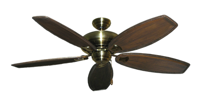 "Picture of Tiara Antique Brass with 60"" Series 525 Arbor Dark Walnut Blades"