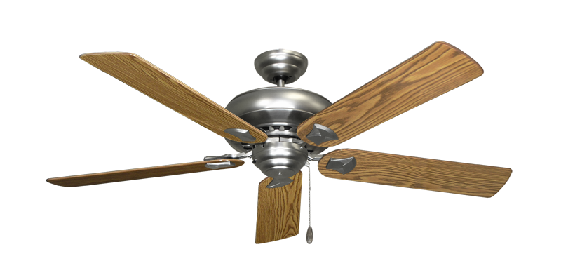 """Picture of Tiara Satin Steel with 56"""" Oak Gloss Blades"""