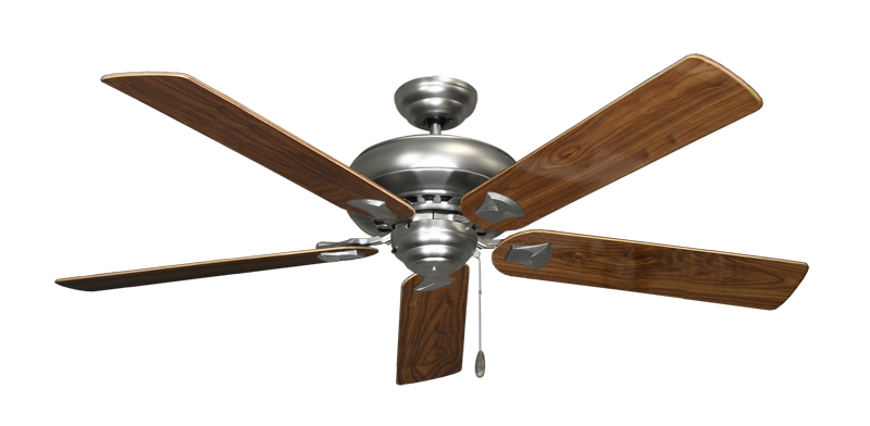"""Picture of Tiara Satin Steel with 60"""" Walnut Gloss Blades"""