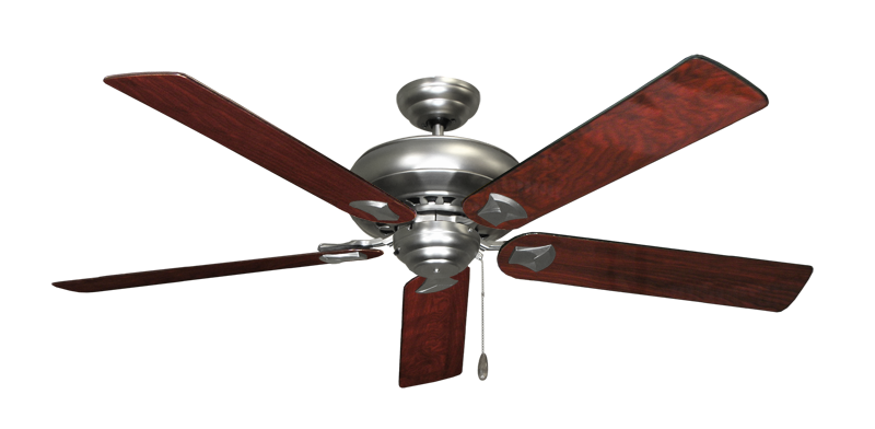 """Picture of Tiara Satin Steel with 60"""" Cherrywood Gloss Blades"""