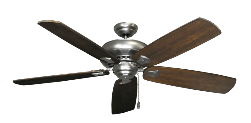 "Picture of Tiara Satin Steel with 60"" Series 725 Arbor Dark Walnut Blades"