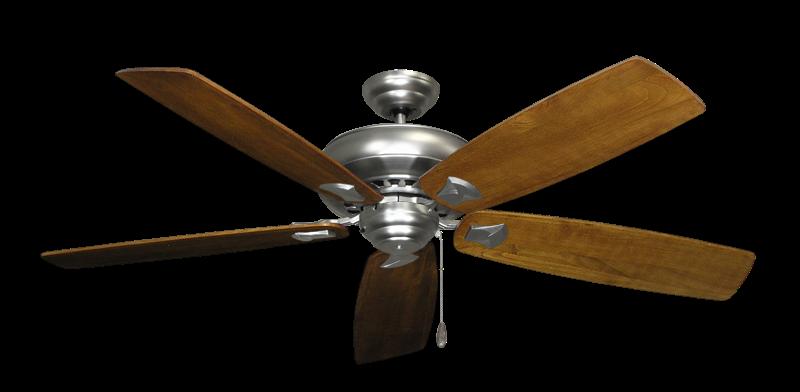 "Picture of Tiara Satin Steel with 60"" Series 725 Arbor Oak Blades"