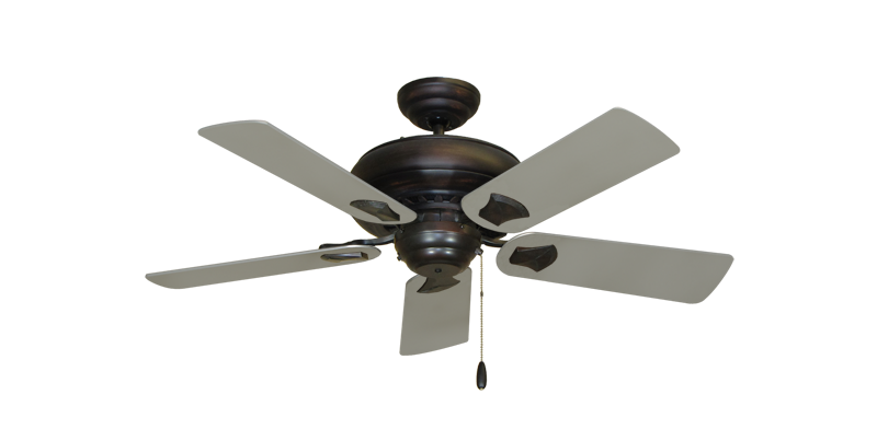 "Picture of Tiara Oil Rubbed Bronze with 44"" Satin Steel (painted) Blades"