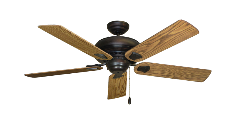 "Picture of Tiara Oil Rubbed Bronze with 52"" Oak Gloss Blades"
