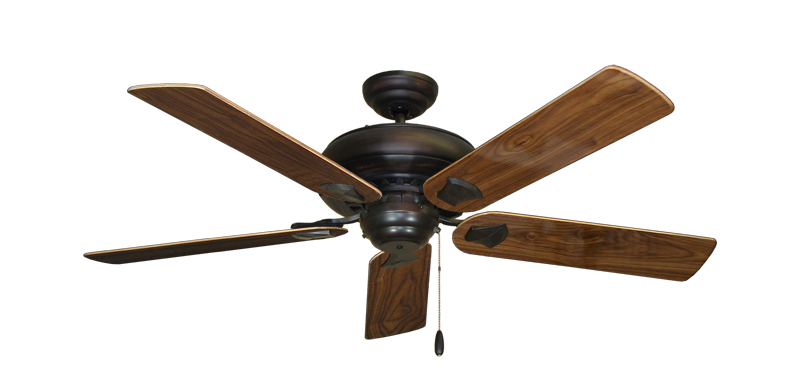 """Picture of Tiara Oil Rubbed Bronze with 52"""" Walnut Gloss Blades"""