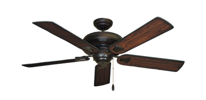 """Picture of Tiara Oil Rubbed Bronze with 52"""" Burnt Cherry Blades"""