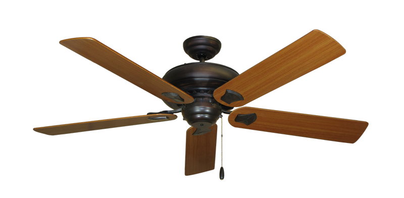 "Picture of Tiara Oil Rubbed Bronze with 56"" Teak Blades"