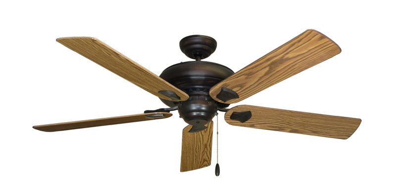 """Picture of Tiara Oil Rubbed Bronze with 56"""" Oak Gloss Blades"""